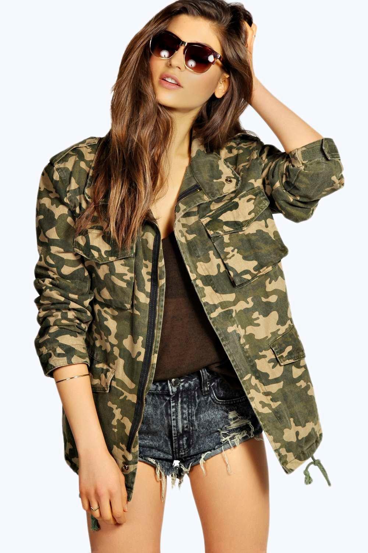 jenny camouflage utility jacket at. Black Bedroom Furniture Sets. Home Design Ideas