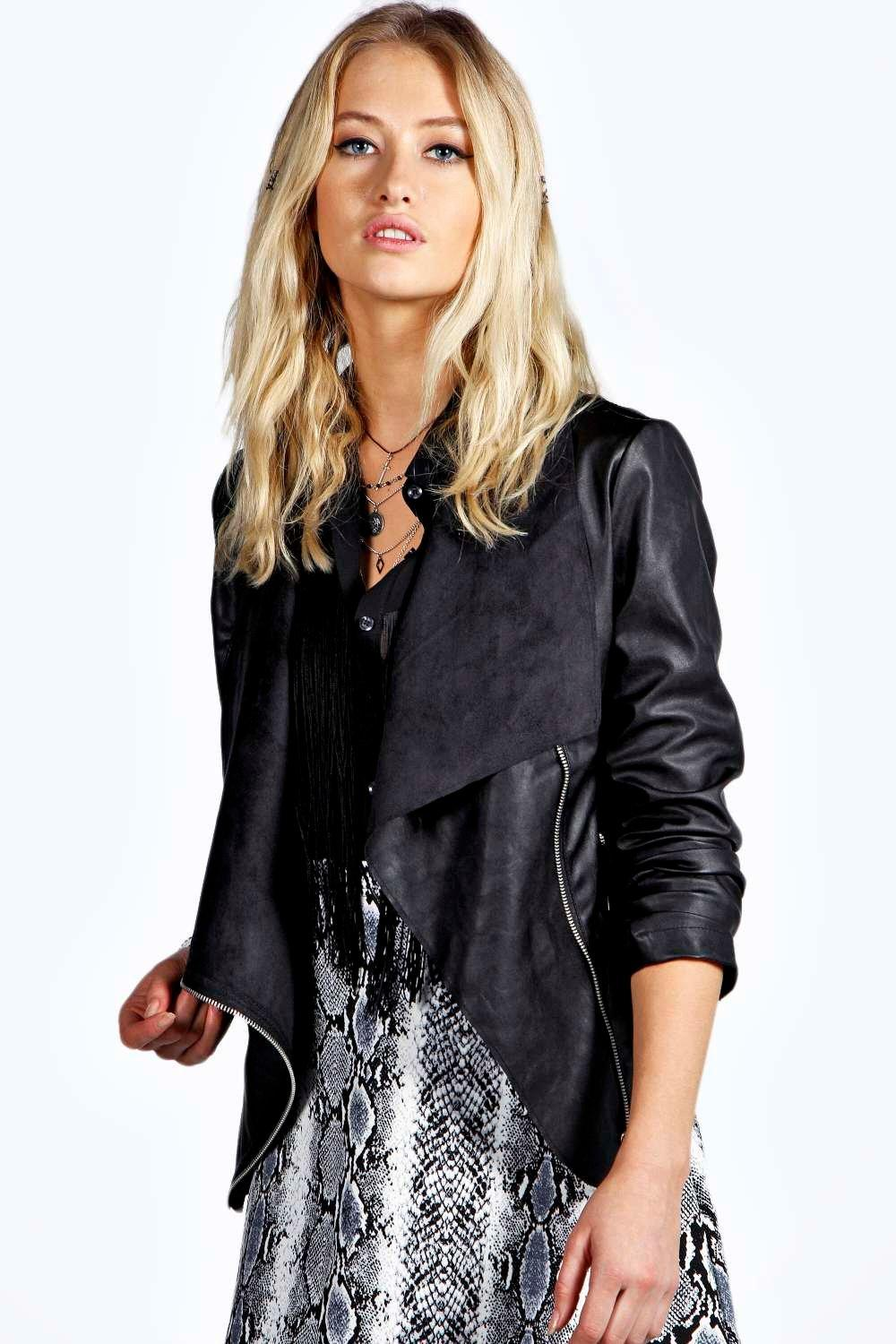 Waterfall Leather Jacket New Look - Jacket