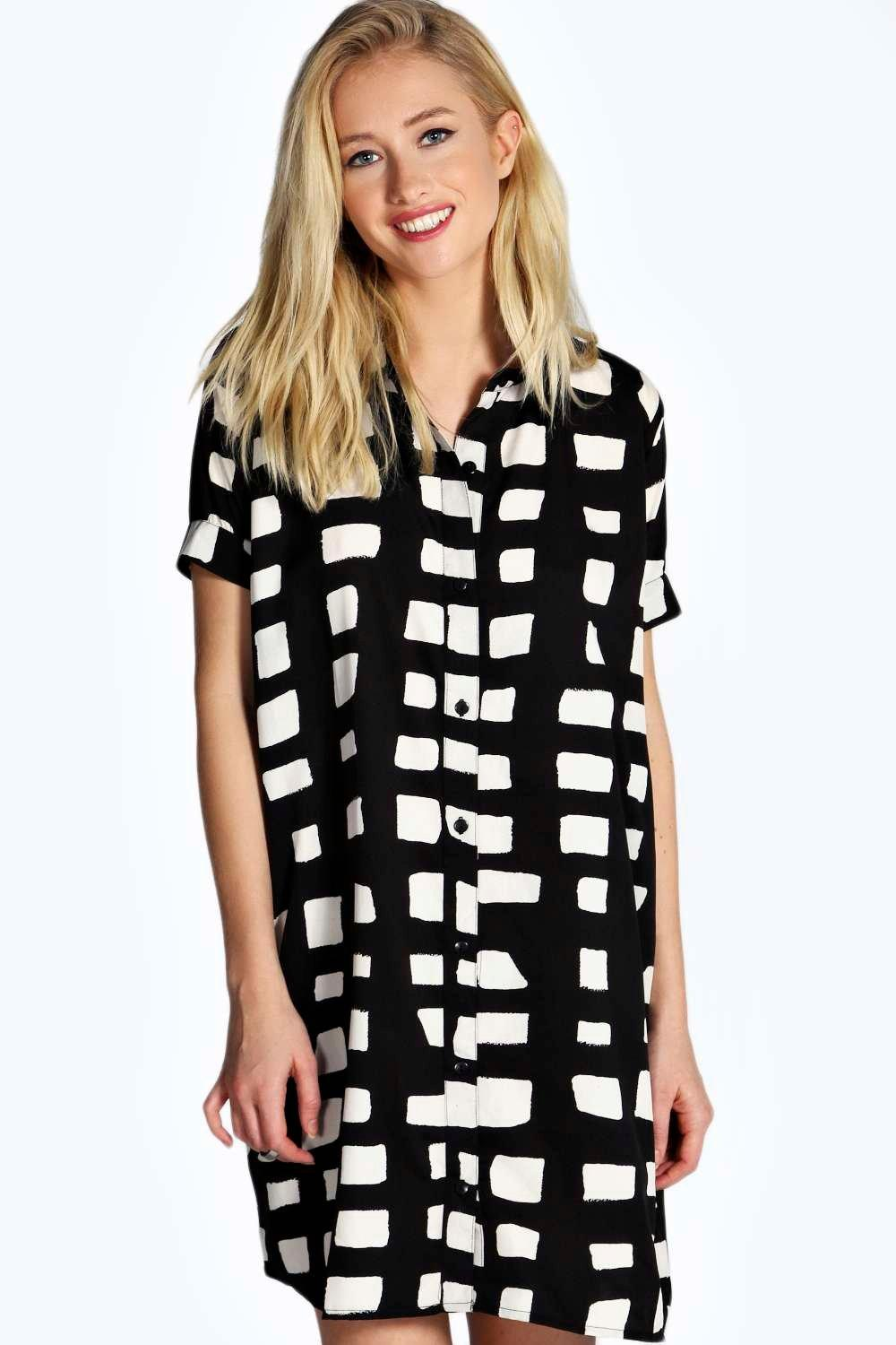 Debbi Woven Boxy Shirt Dress