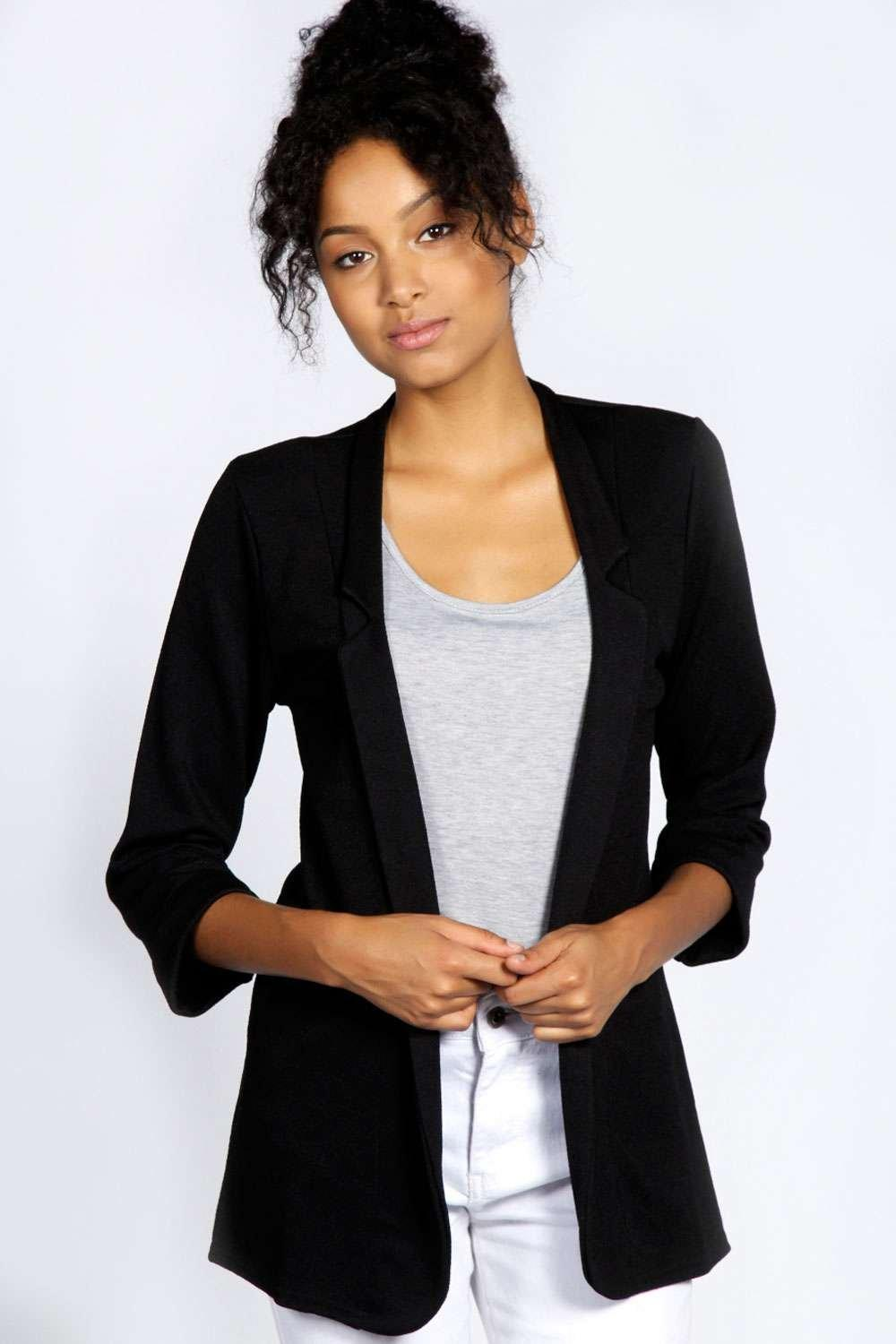 Jules Notch Crepe Blazer