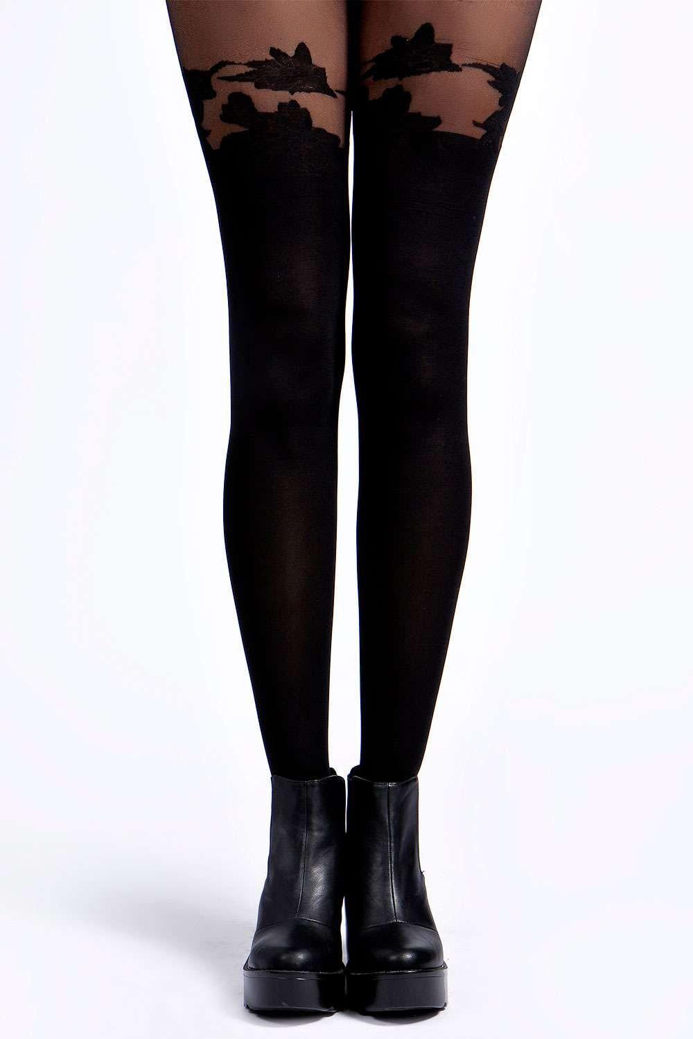 Ella Floral Over The Knee Tights