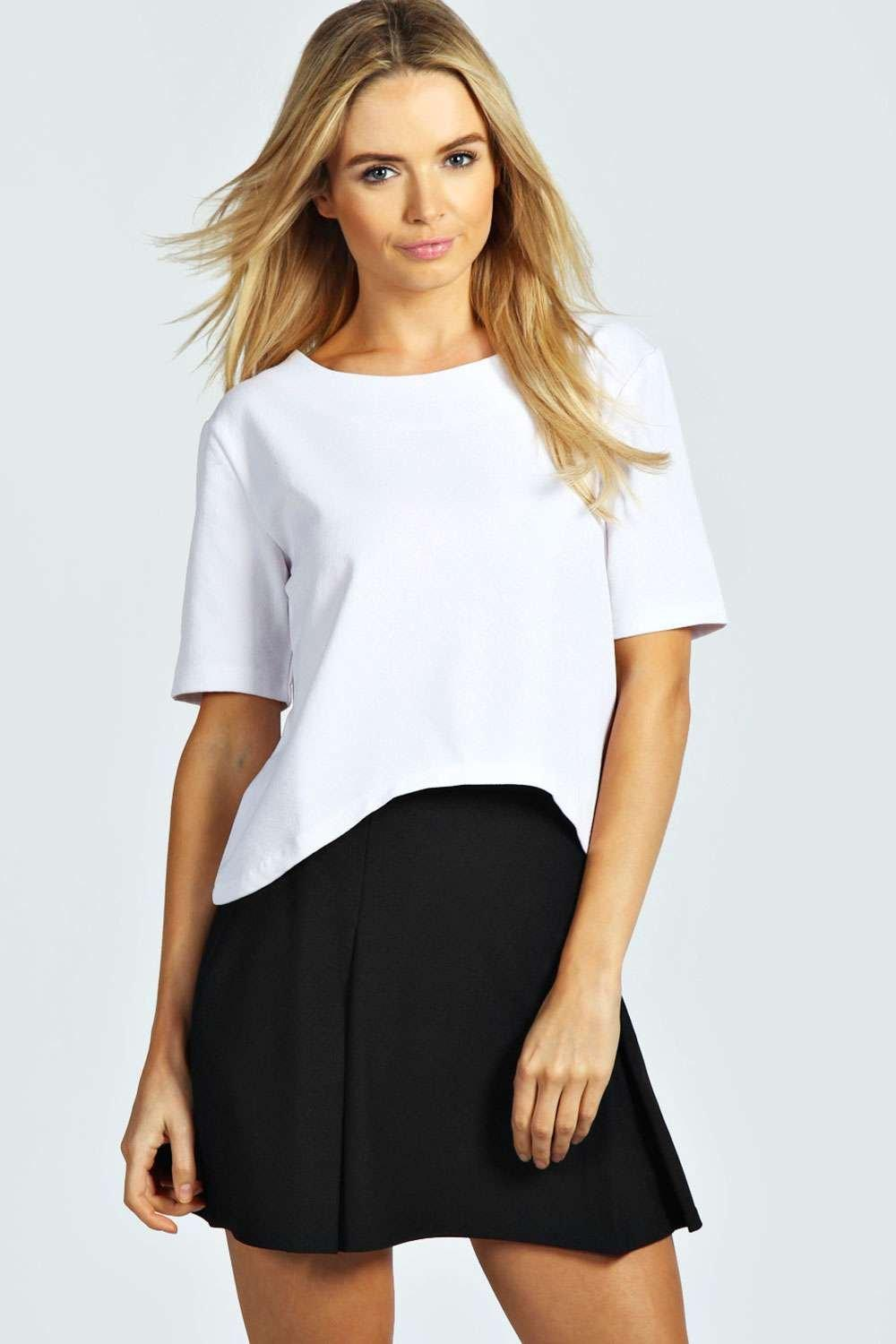 Mabel Pleat Detail Crepe Mini Skirt