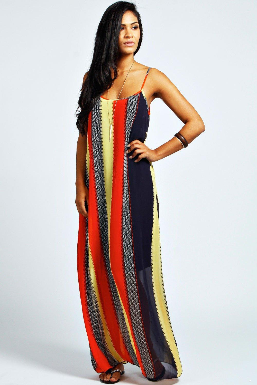 Freya Tribal Stripe Cami Maxi Dress at boohoo.com