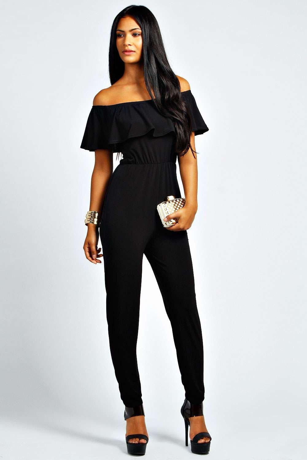 Lacey Exaggerated Frill Shoulder Jumpsuit