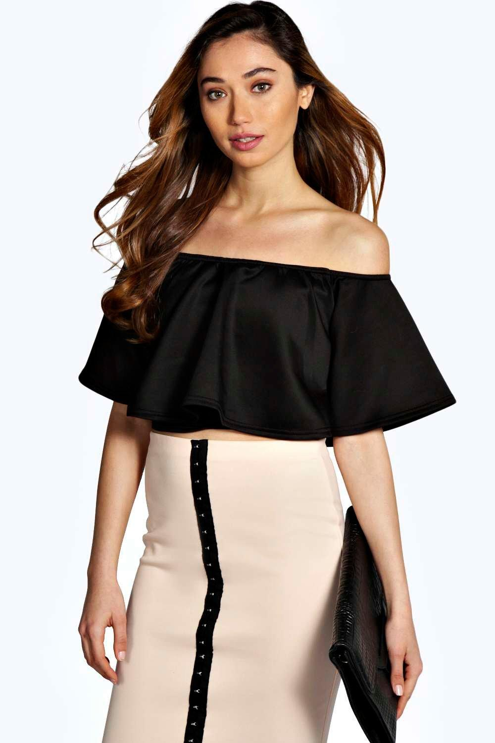 Anisa Frill Crop Swing Top