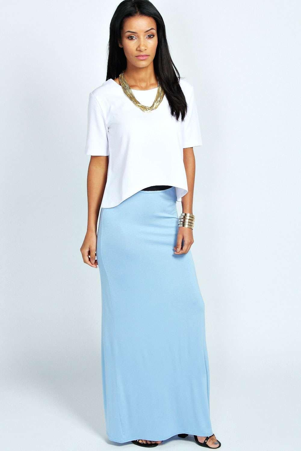 Helena Jersey Maxi Skirt at boohoo.com