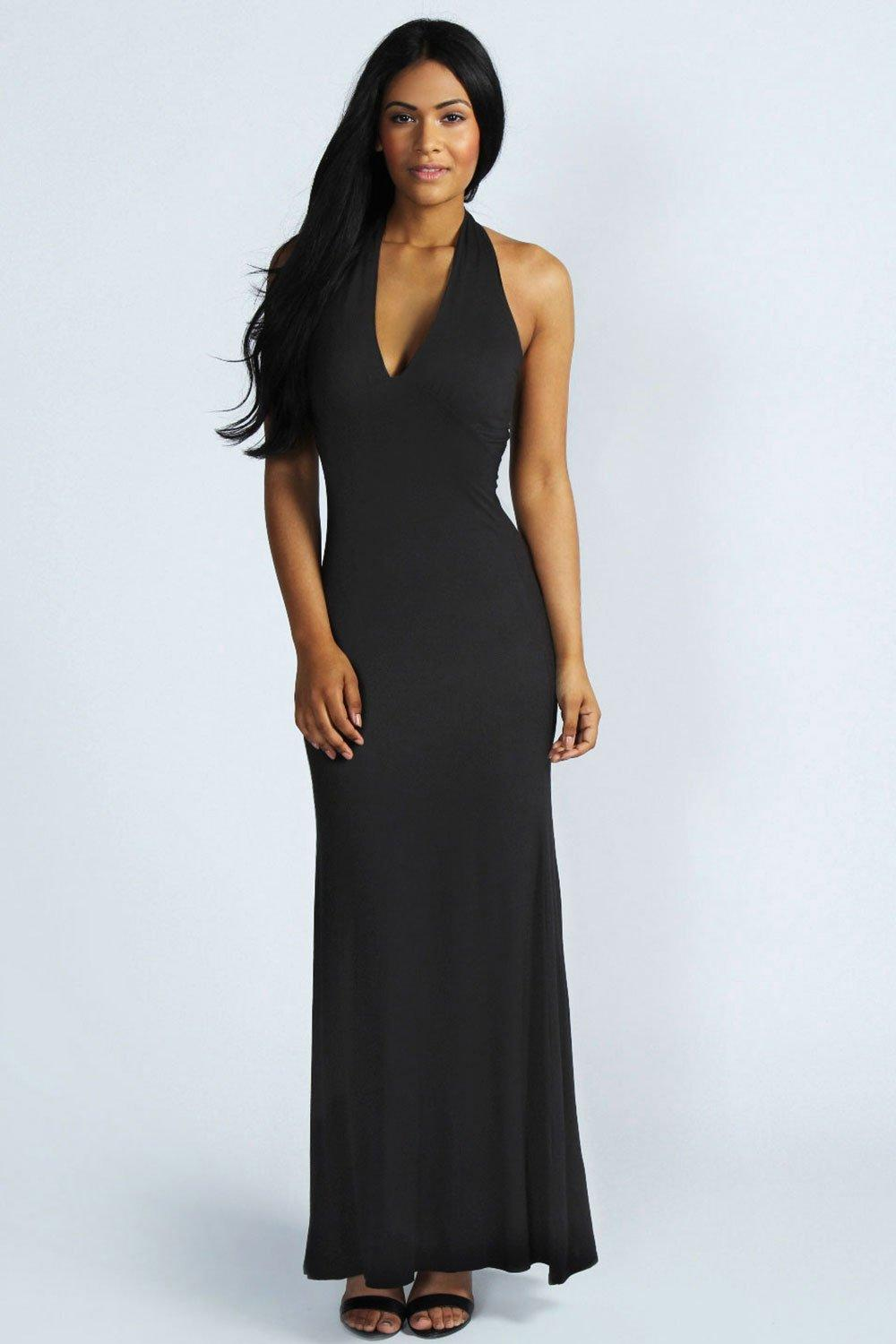 Hayley halterneck maxi dress at for Boohoo dresses for weddings
