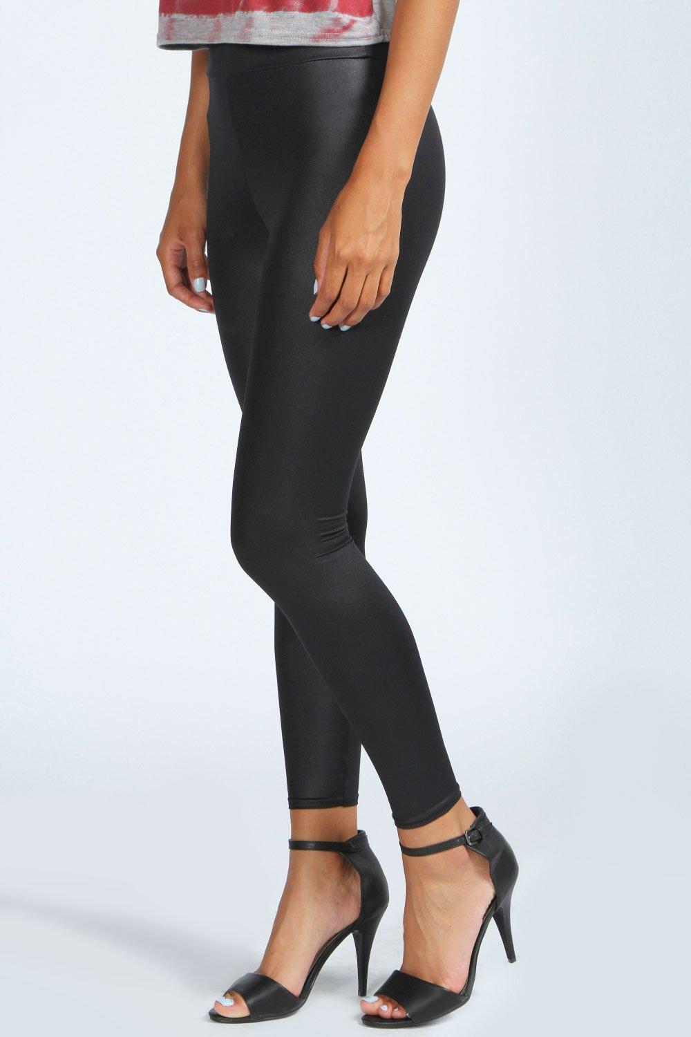 Ruby Basic High Waisted Wet Look Leggings