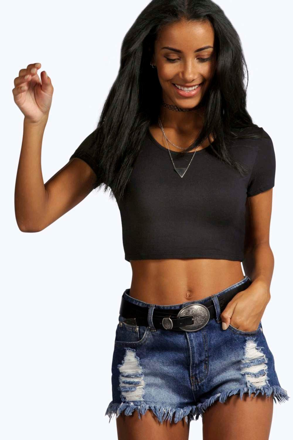 Nicole Short Sleeve Crop Top