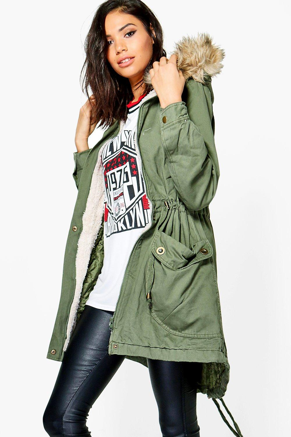 Molly PU Trim Parka