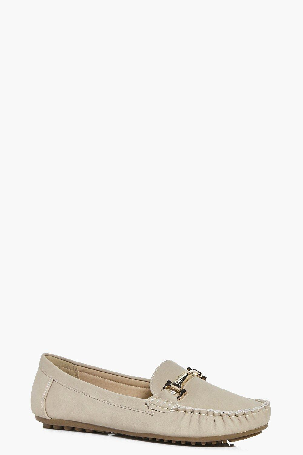 Julia Metallic Trim Loafer Flat