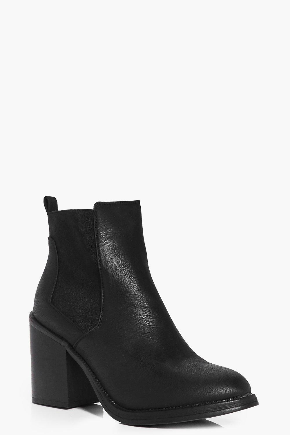 Amy Elastic Insert Ankle Boot