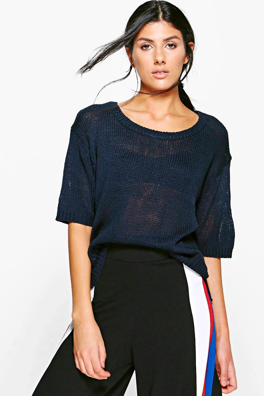 Emily Short Sleeve Knitted Jumper