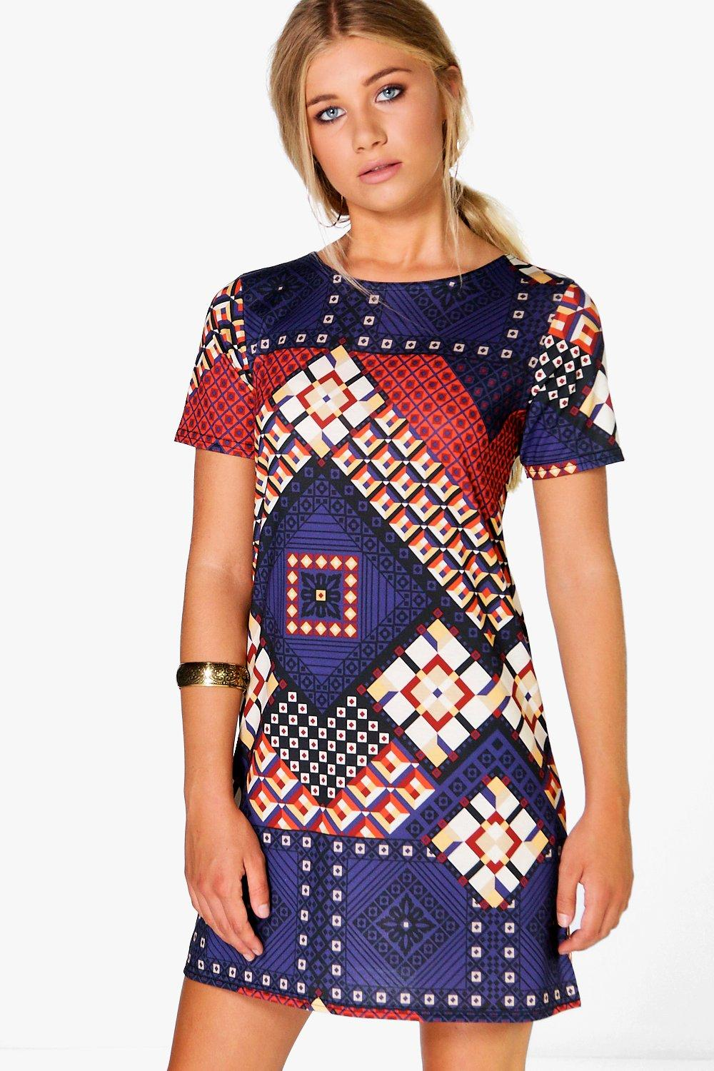 Lily Printed Shift Dress
