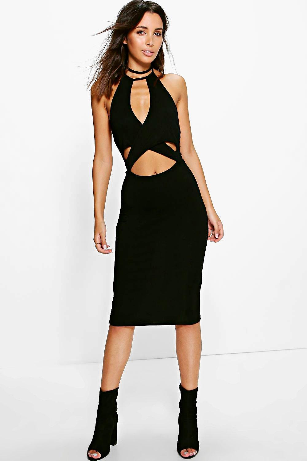 Lacey Halterneck Midi Dress