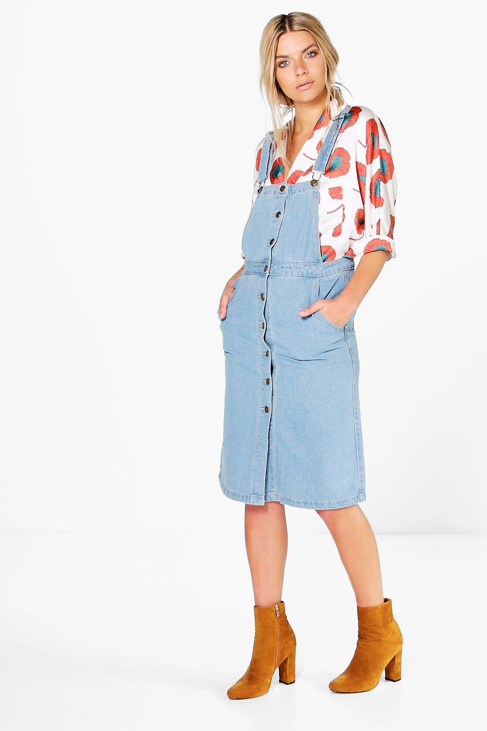 Harriet Denim Dungaree Dress