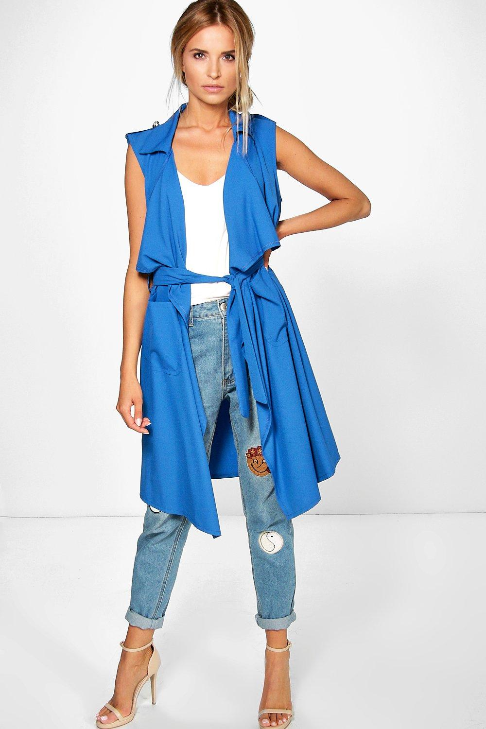 Abigail Sleeveless Waterfall Duster