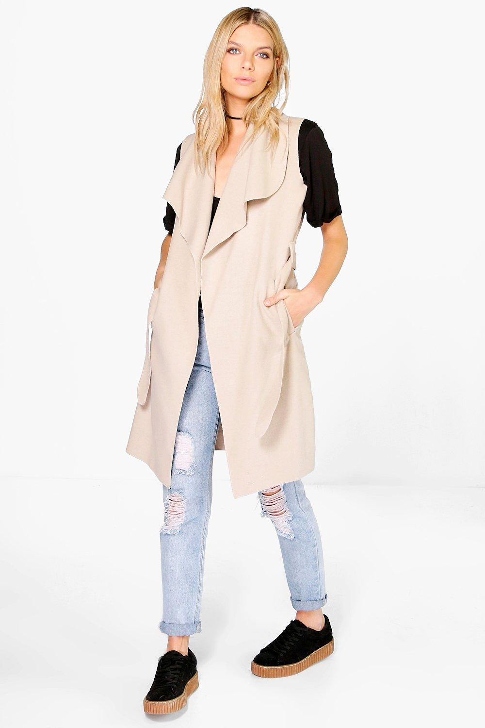 Evelyn Shawl Collar Sleeveless Duster