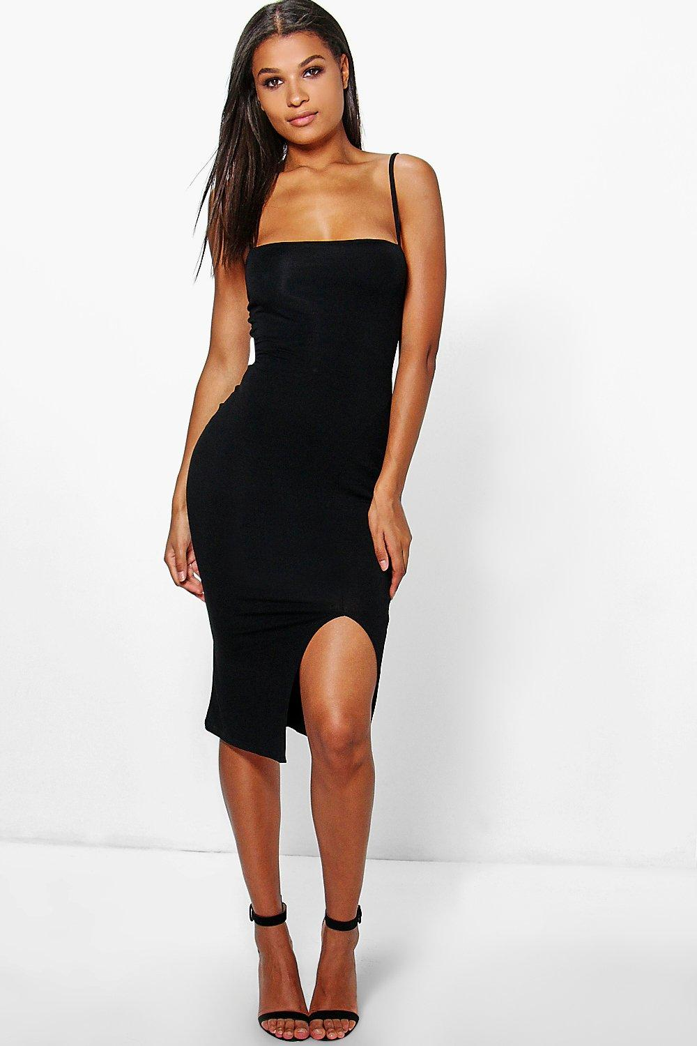 Amelie Strappy Split Bodycon Dress