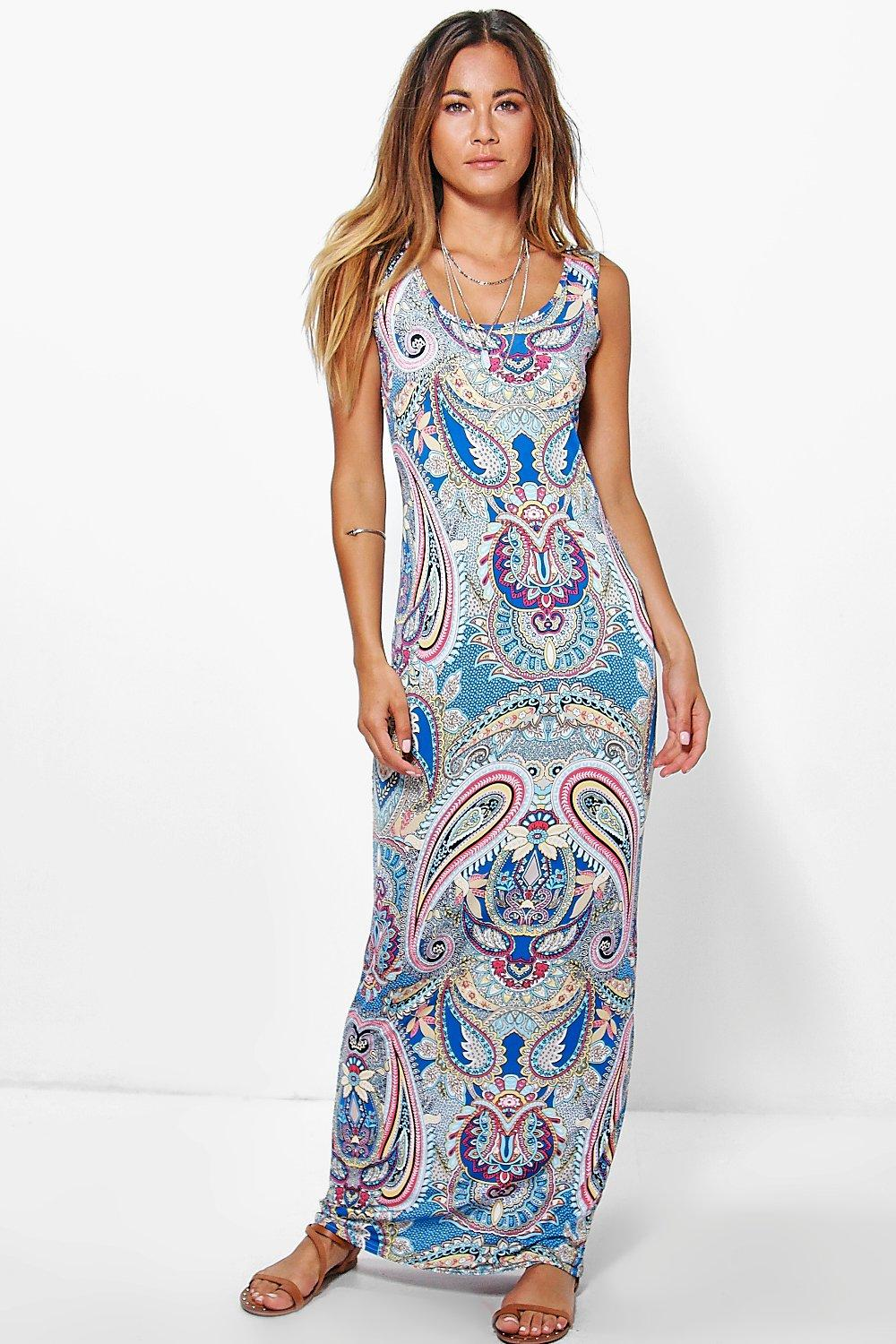 Ellie Printed Maxi Dress