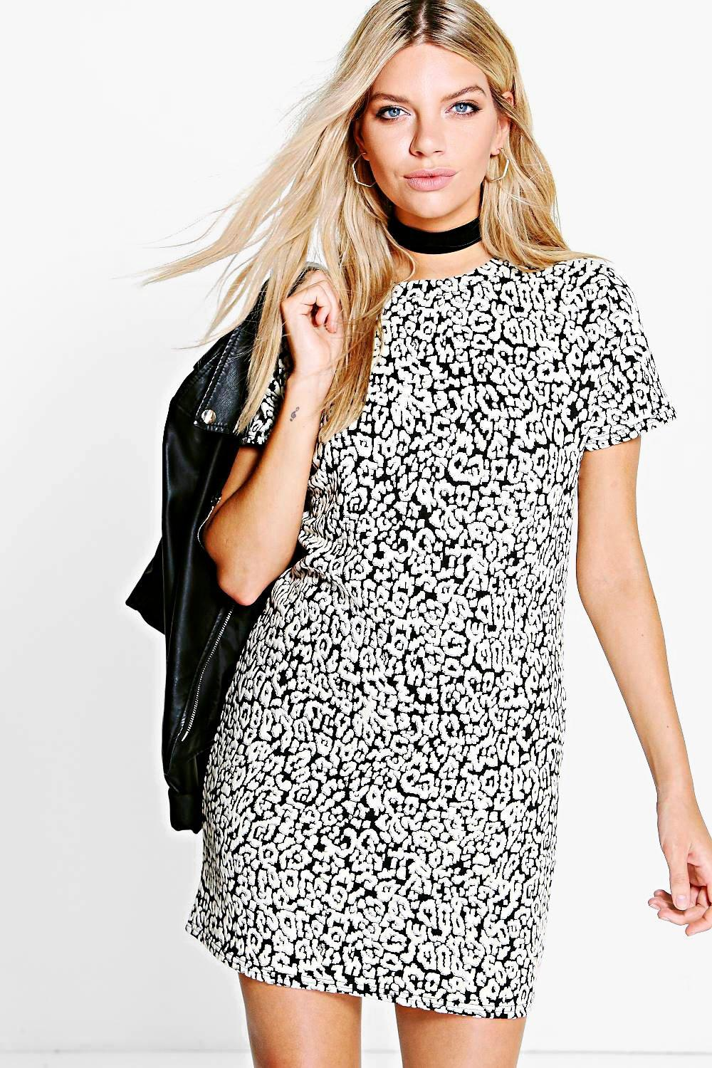 Faye Printed Shift Dress
