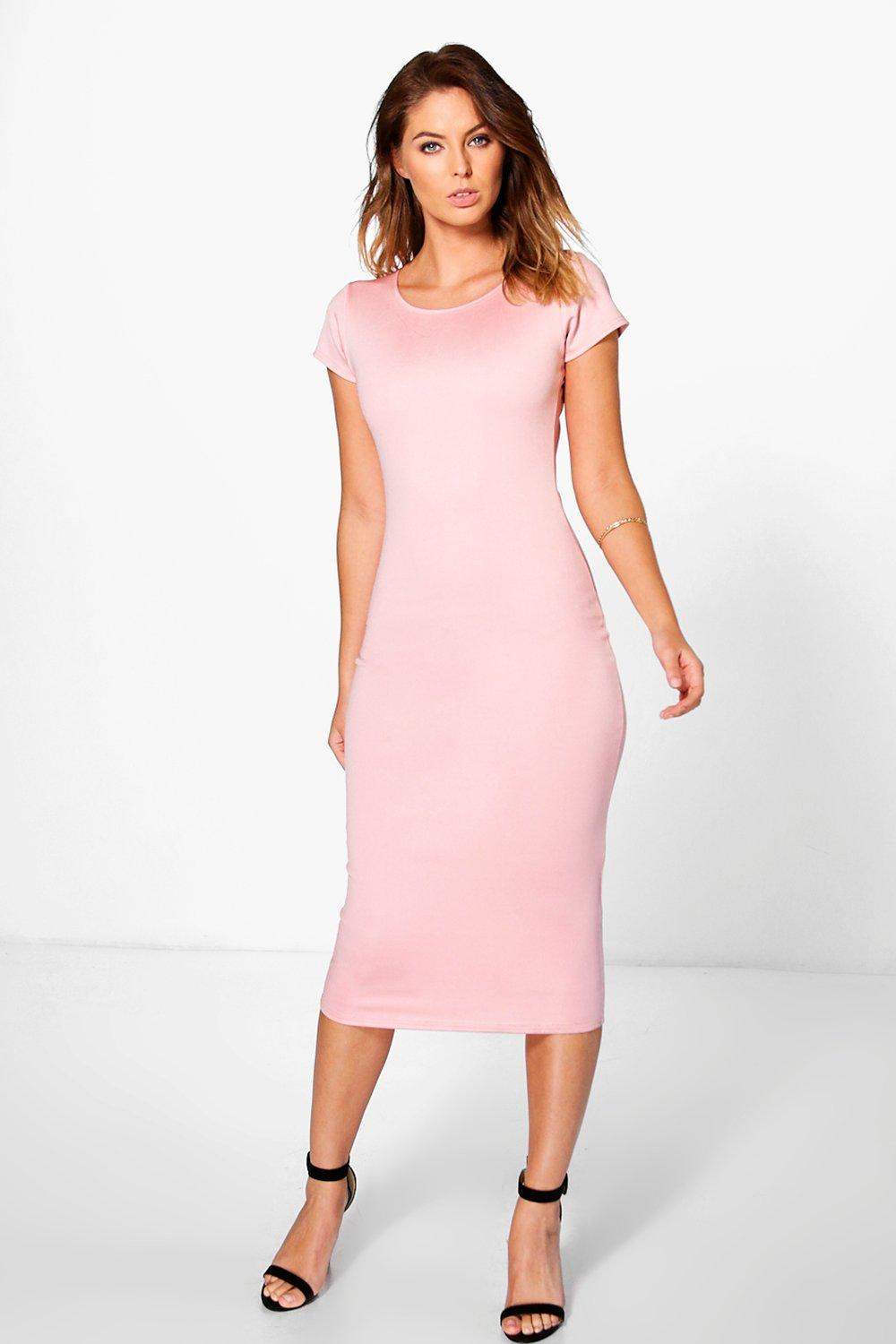 Daisy Cap Sleeve Midi Bodycon Dress