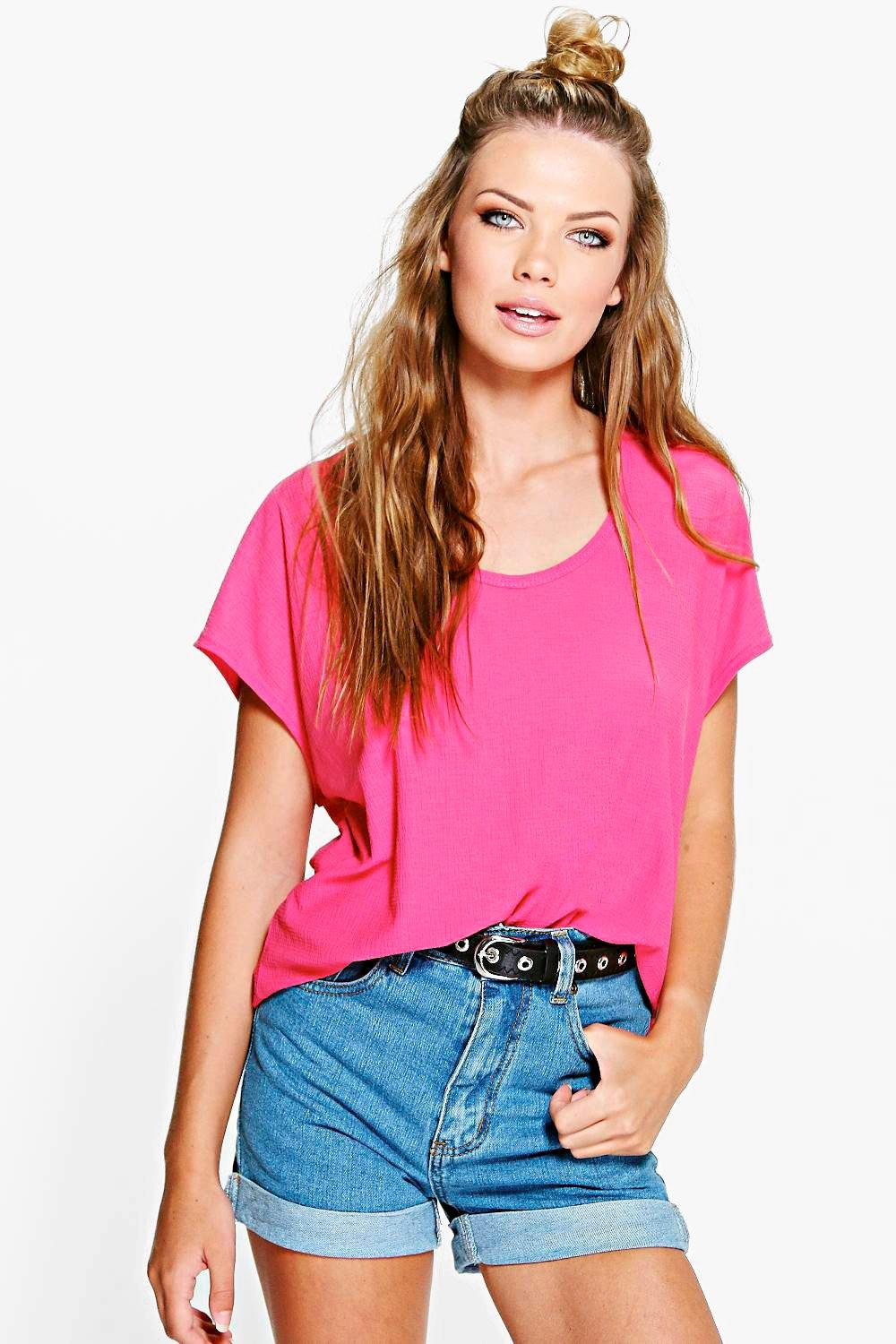 Layla Textured Oversized T-Shirt