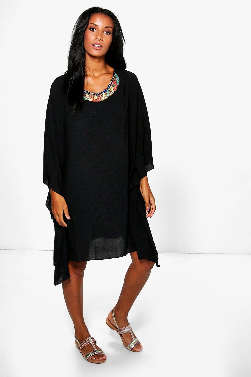 Charlotte Belted Embellished Tunic Dress