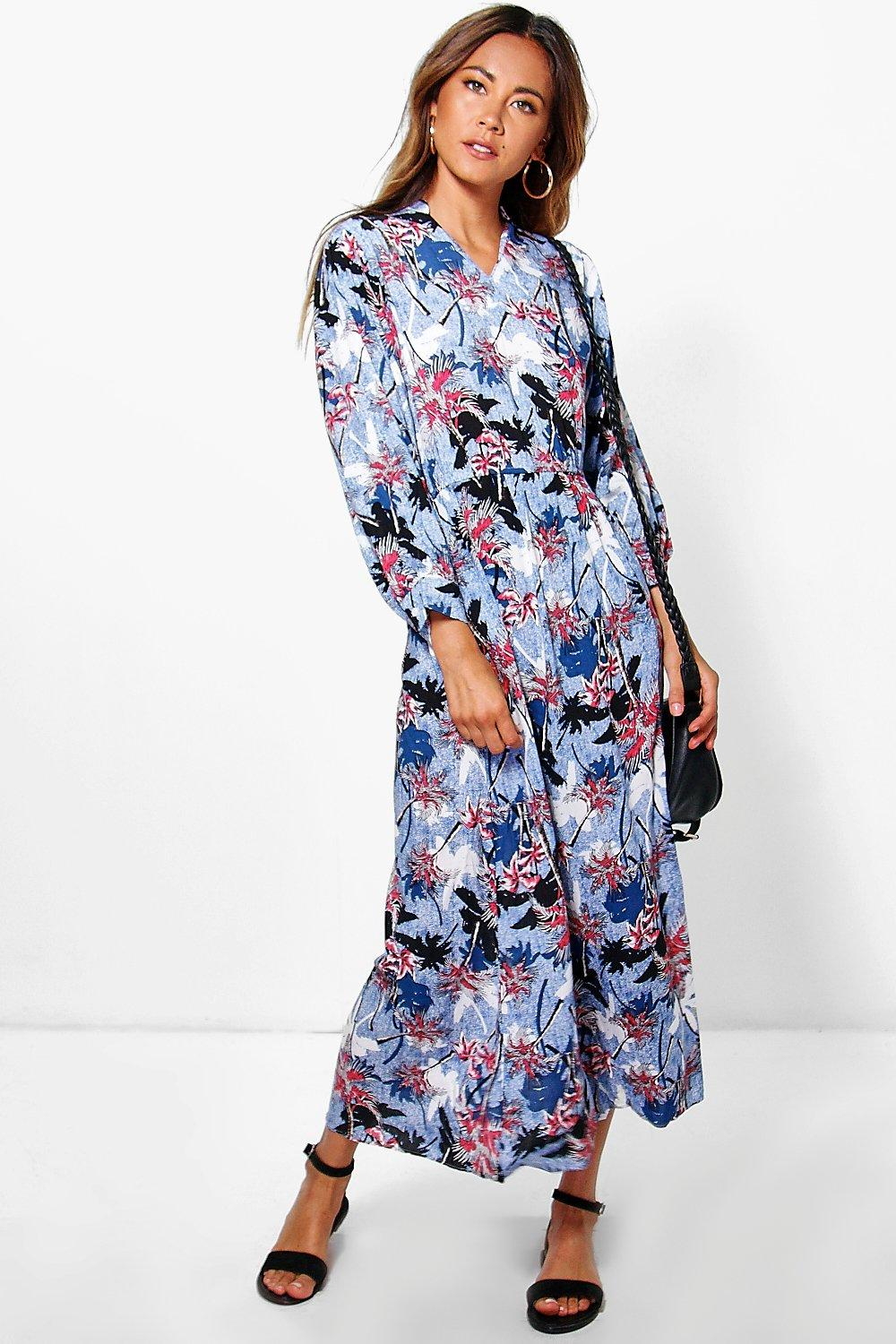 Ella Printed Maxi Dress