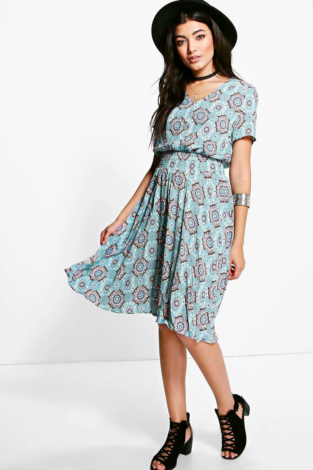 Poppy Printed Tea Dress