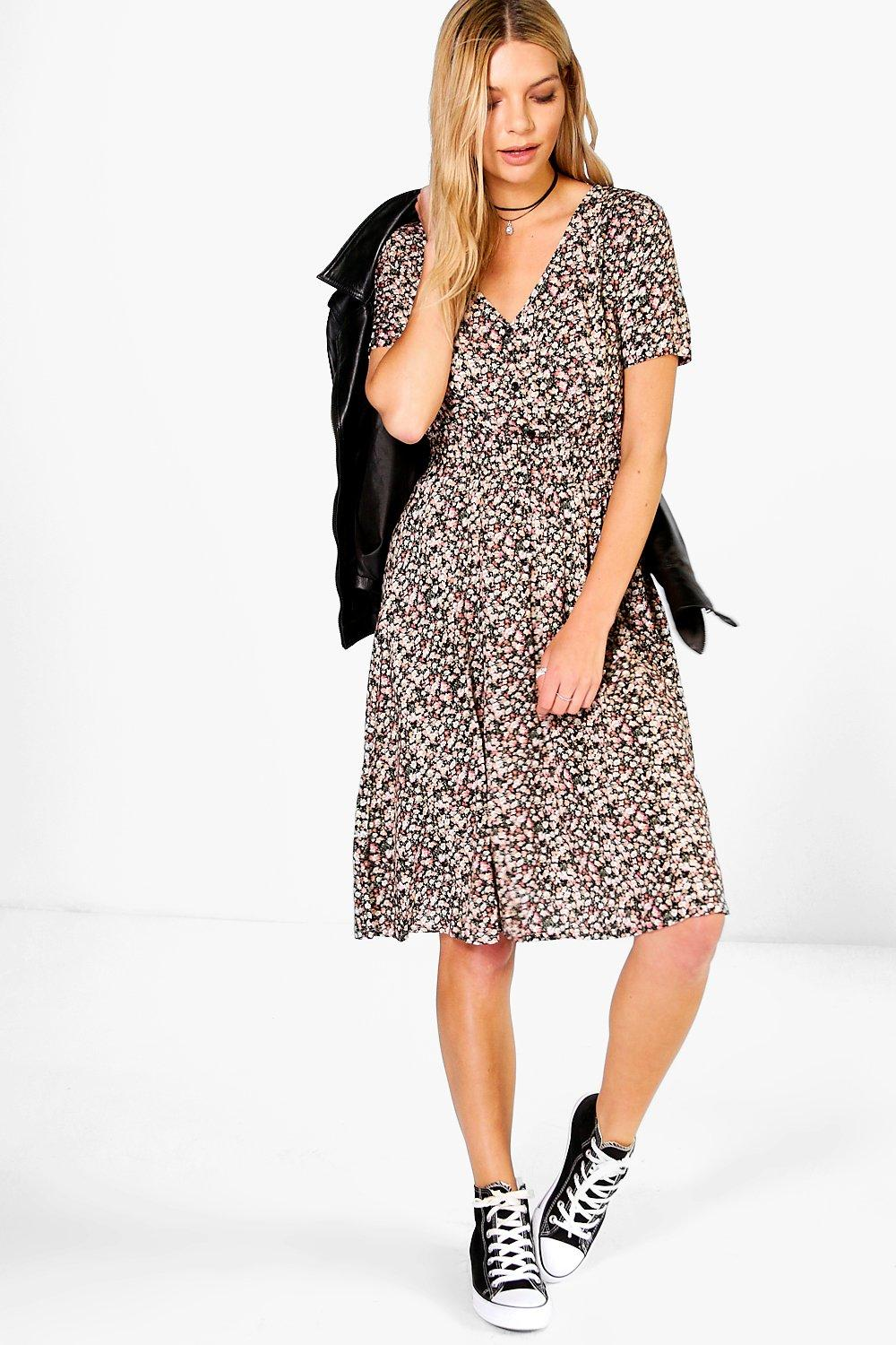Lily Printed Tea Dress