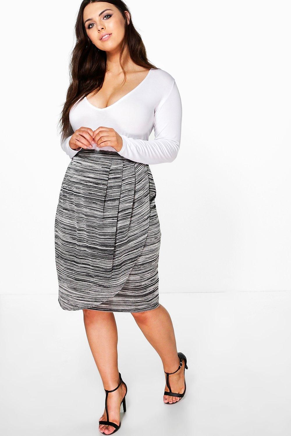 Plus Lexi Marl Knit Skirt