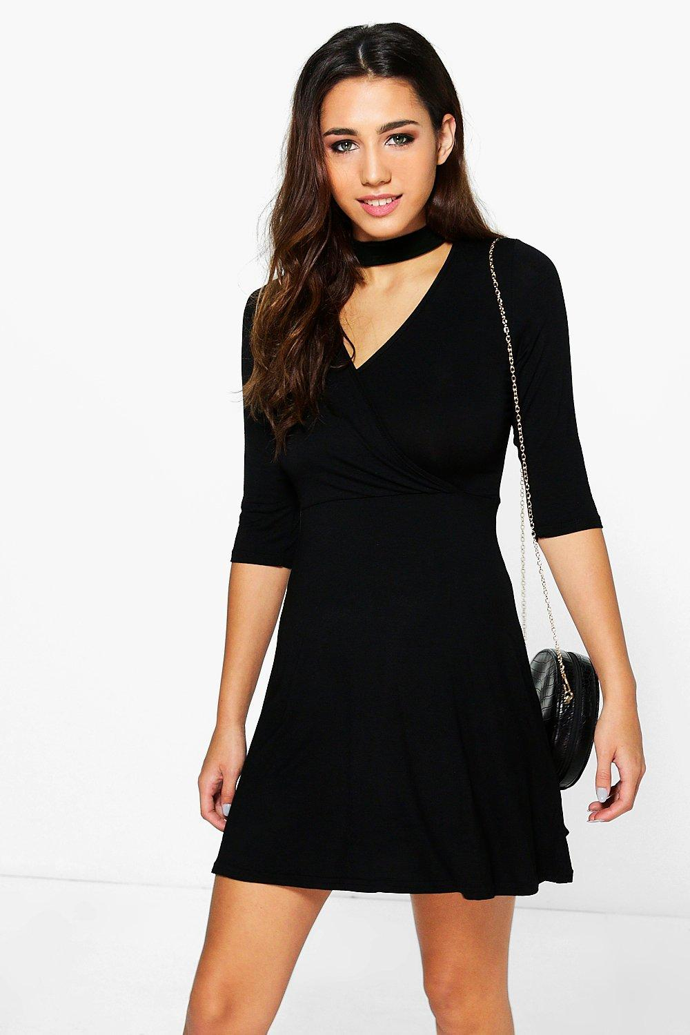 Millie Choker Wrap Dress
