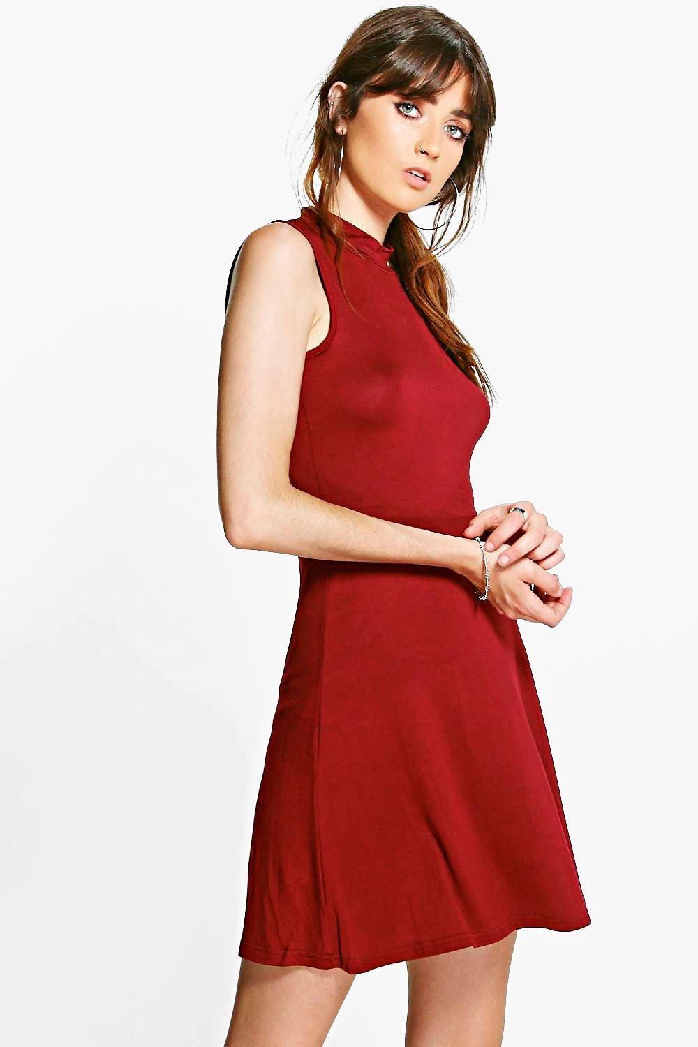 Megan Turtleneck Skater Dress
