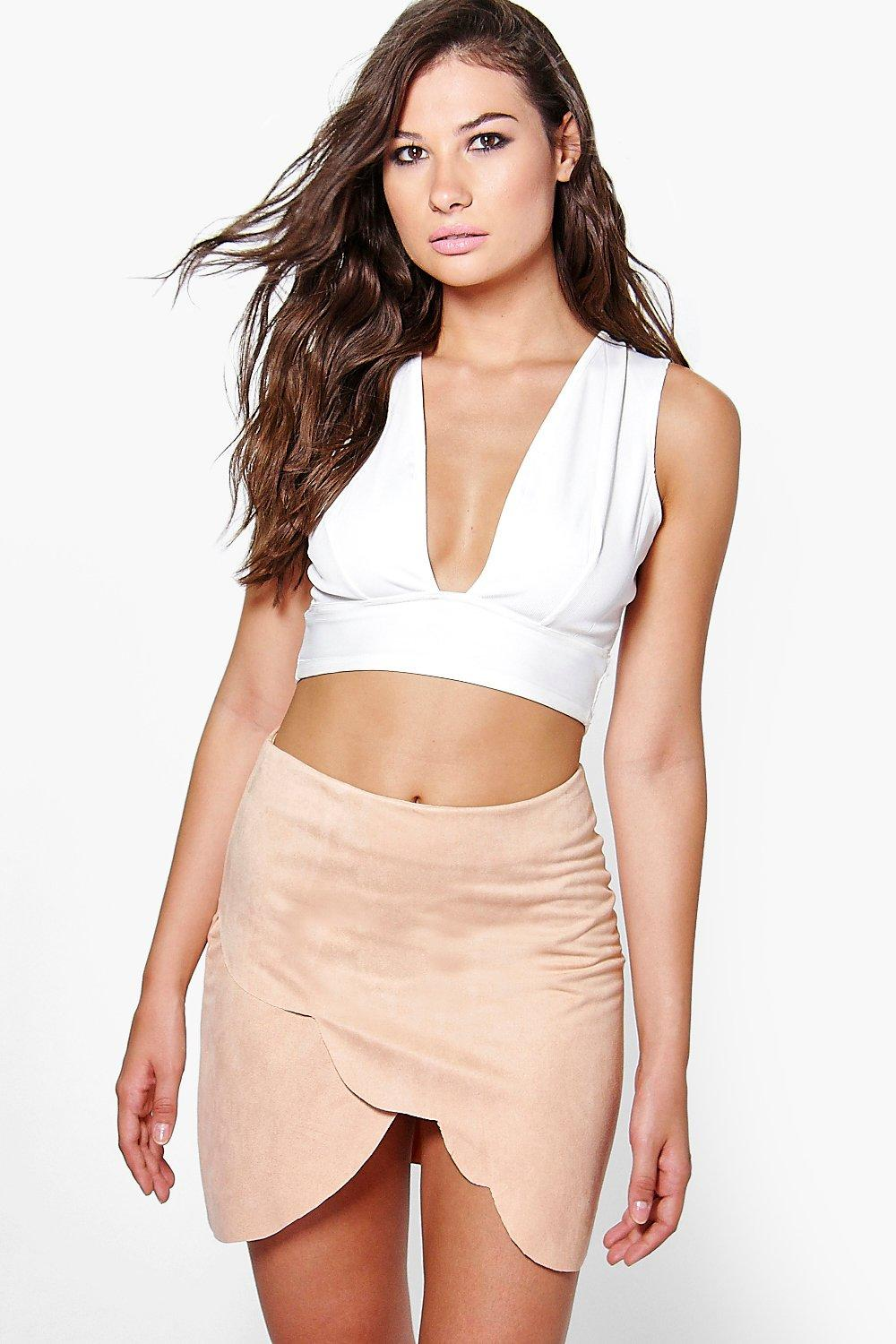 Olivia Scallop Edge Mini Skirt