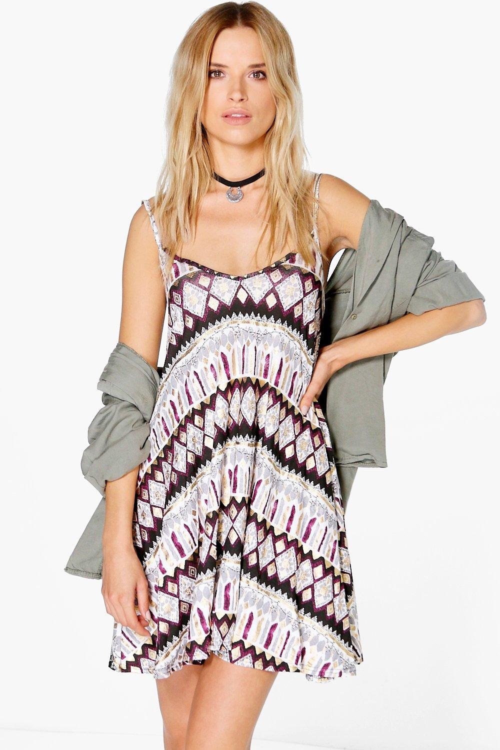 Matilda Aztec Swing Dress
