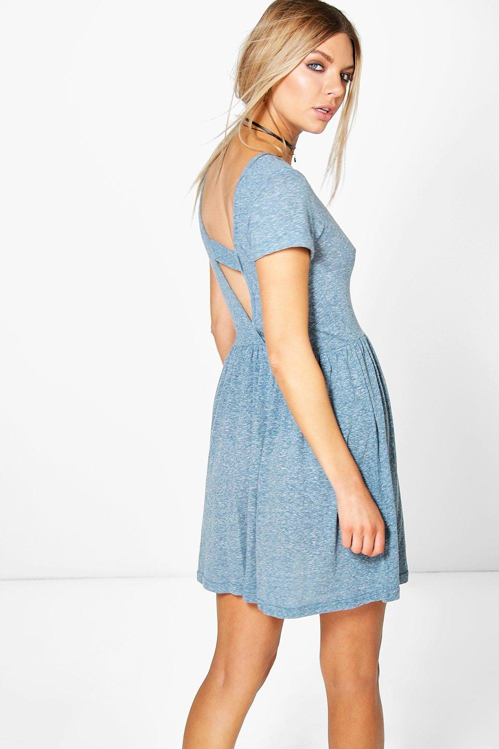 Alexis Open Back Jersey Dress
