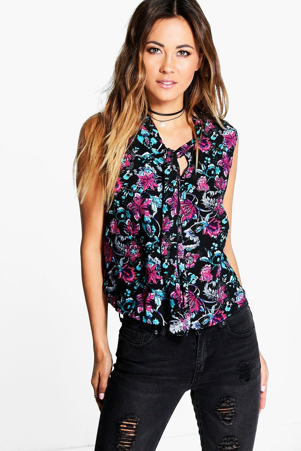 Angie High Neck Printed Top