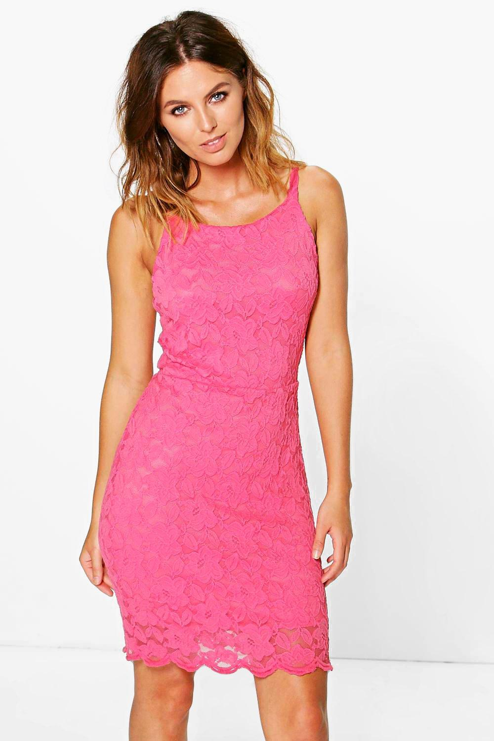 Charlotte Coral Lace Dress