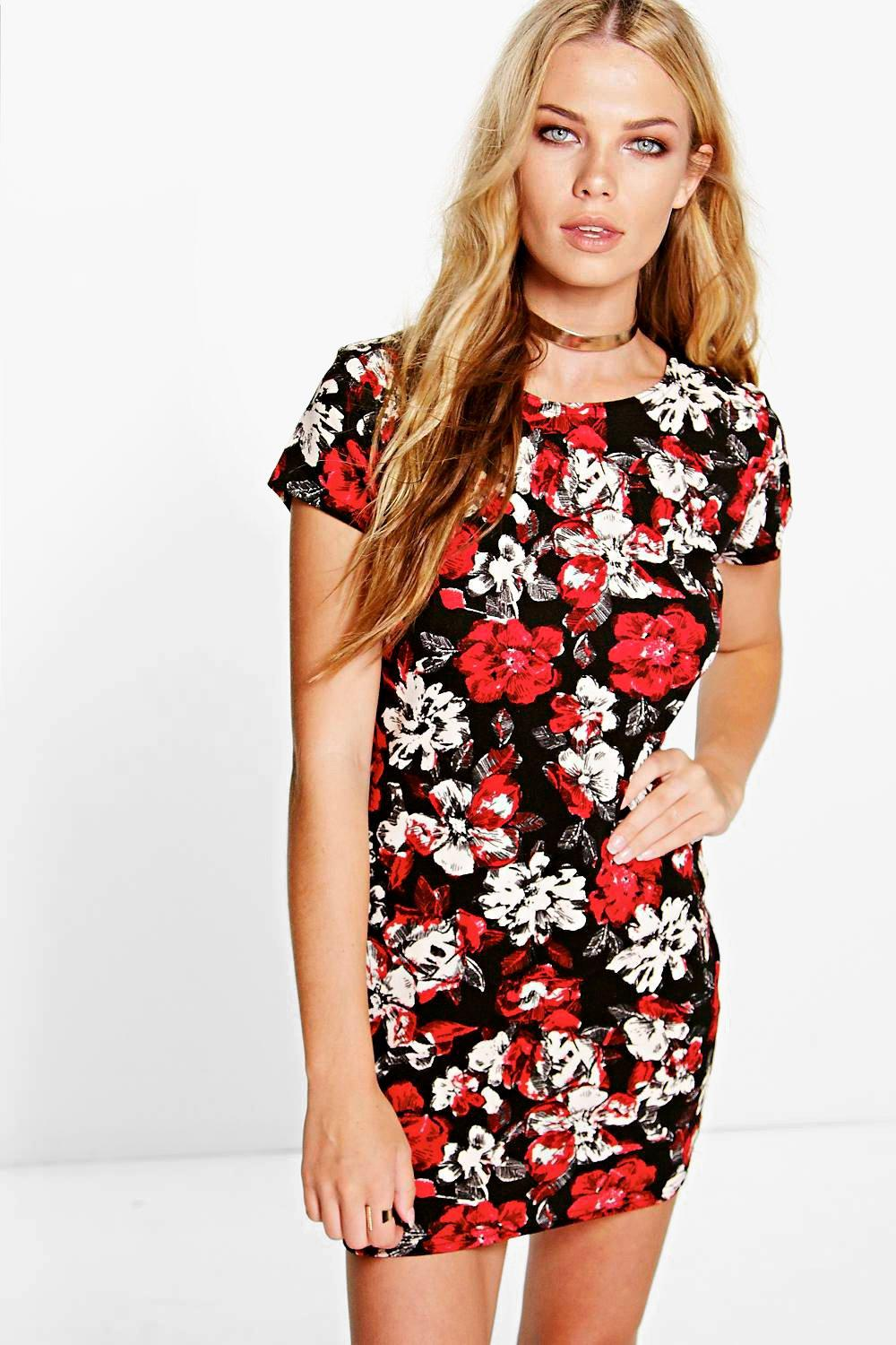 Lottie Cap Sleeve Bodycon Mini Dress