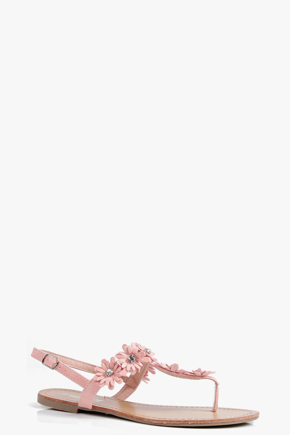 Sophie Flower Detail Thong Sandal