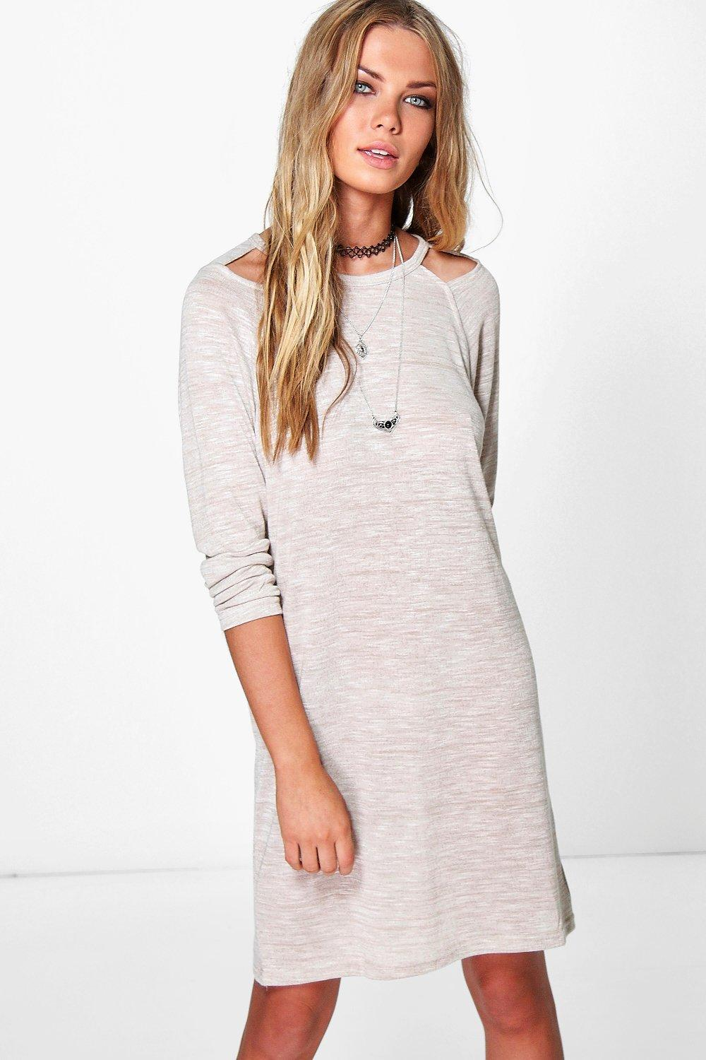 Lilly Shoulder Panel Long Sleeve Dress