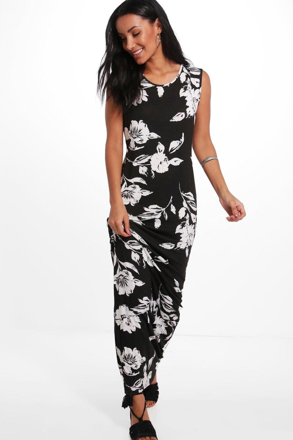 Emma Floral Sleeveless Maxi Dress at boohoo.com