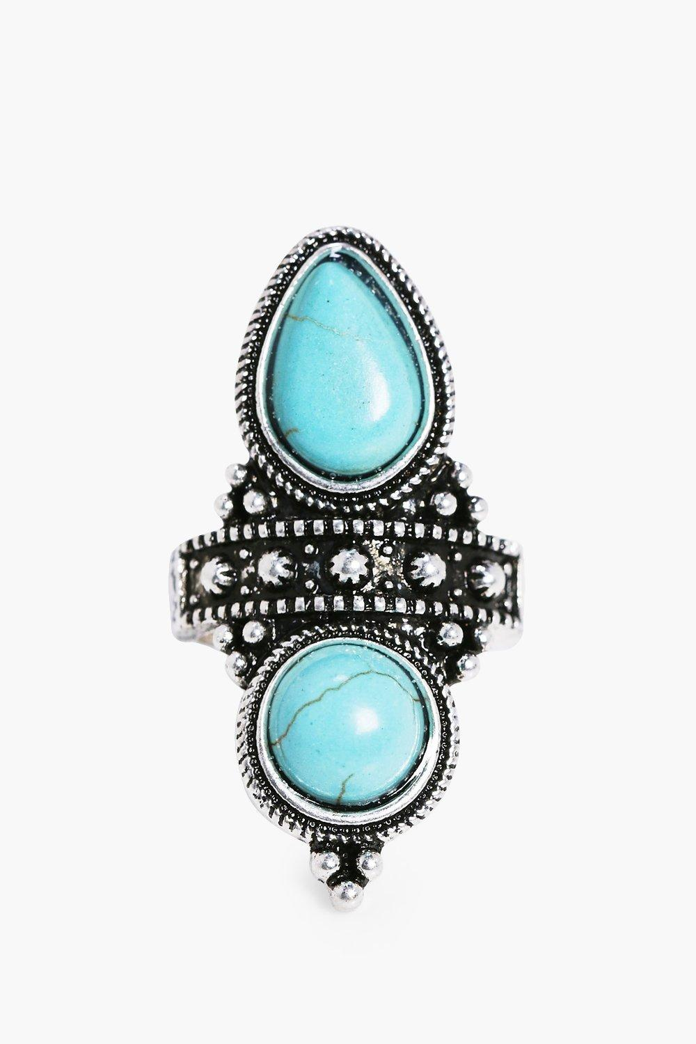 Lilly Double Turquoise Stone Boho Ring
