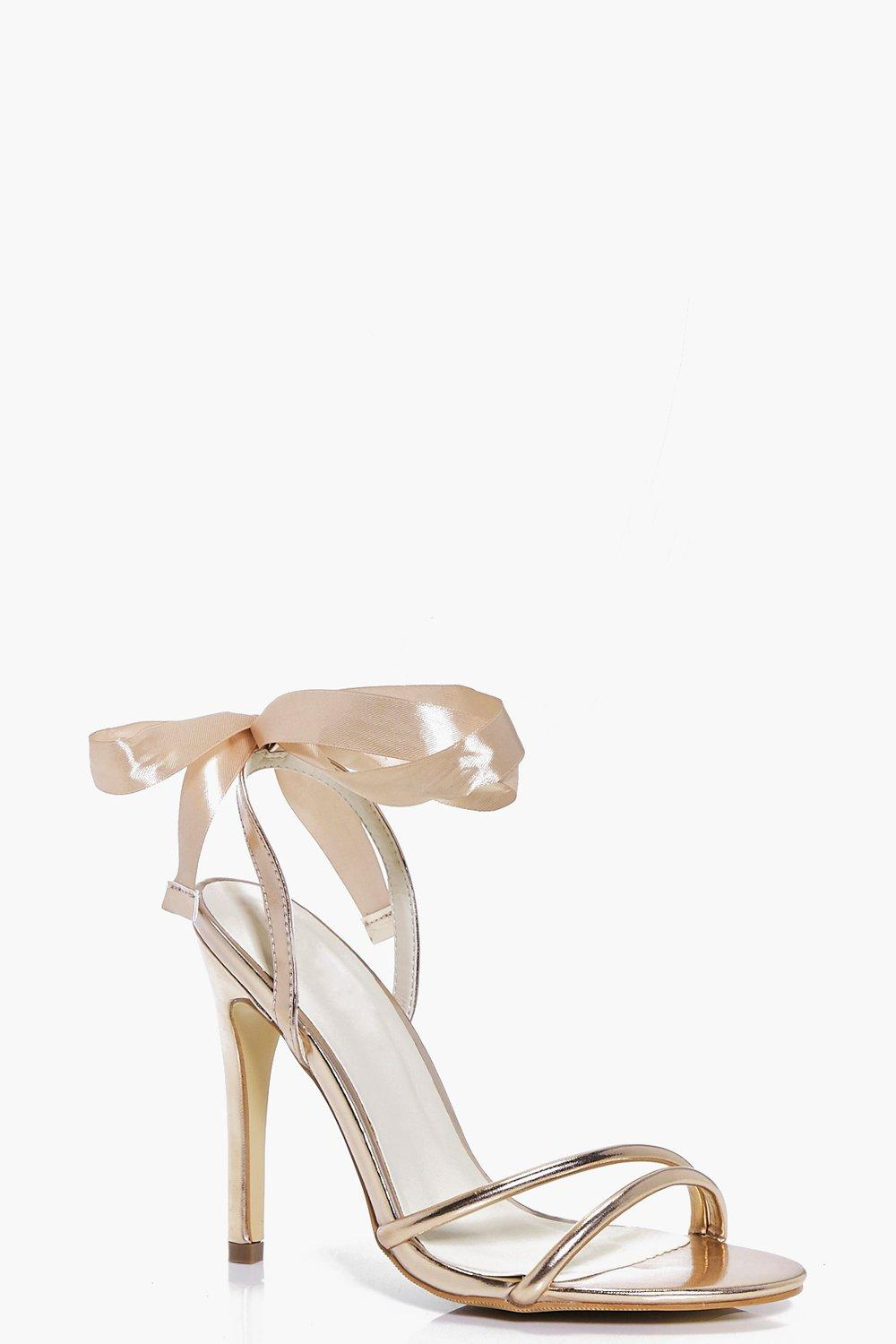 Daisy Ribbon Tie Two Part Sandal
