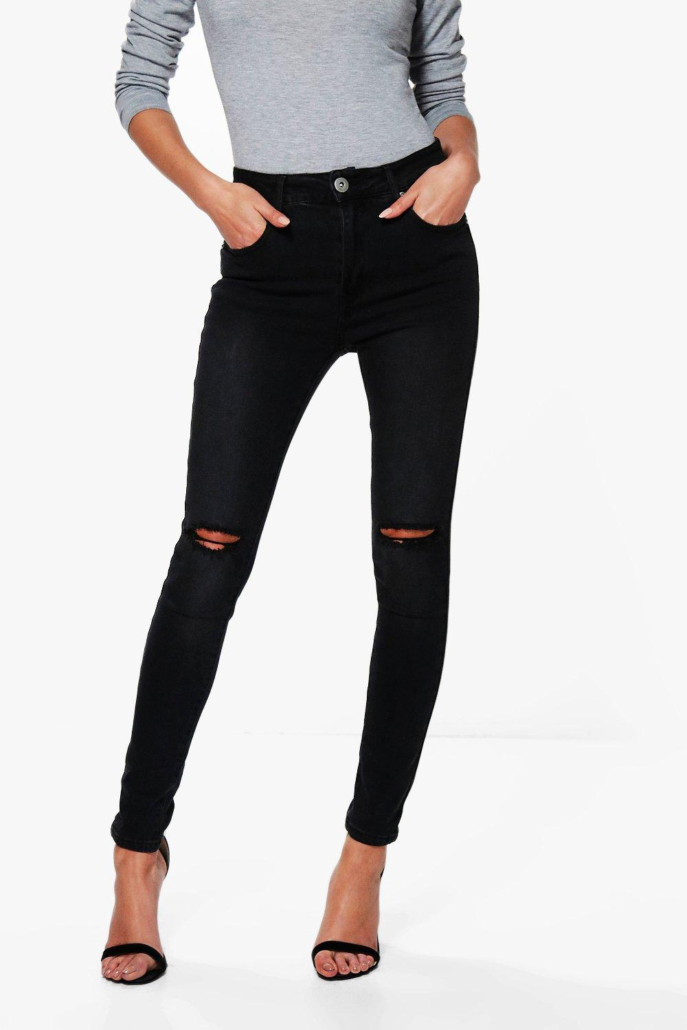 Jessie High Rise Distressed Skinny Jeans
