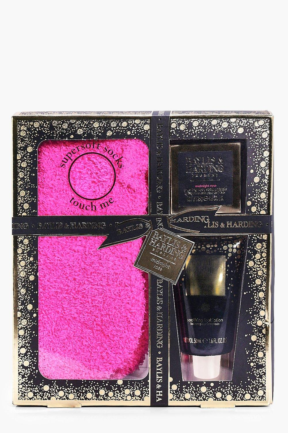 Rose Foot Lotion, Crystals & Socks Gift Set