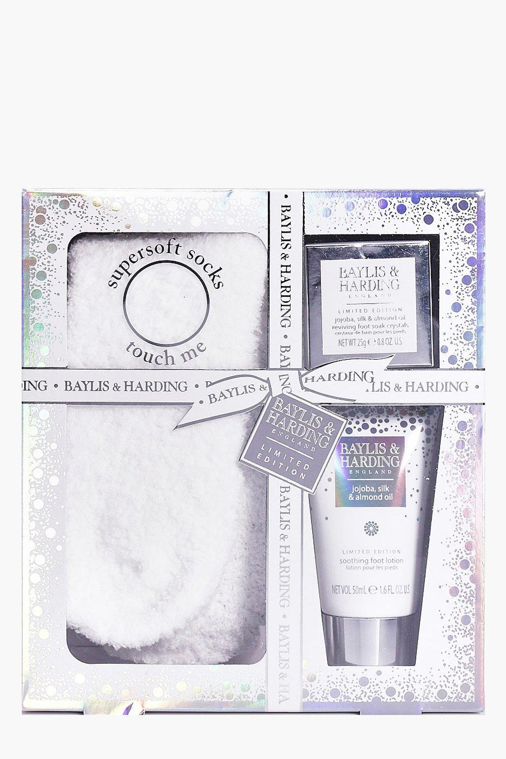 Foot Lotion, Crystals & Socks Gift Set