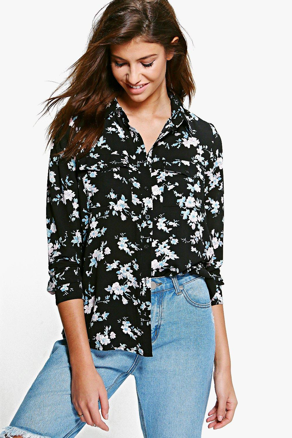 Riley Dark Floral Shirt