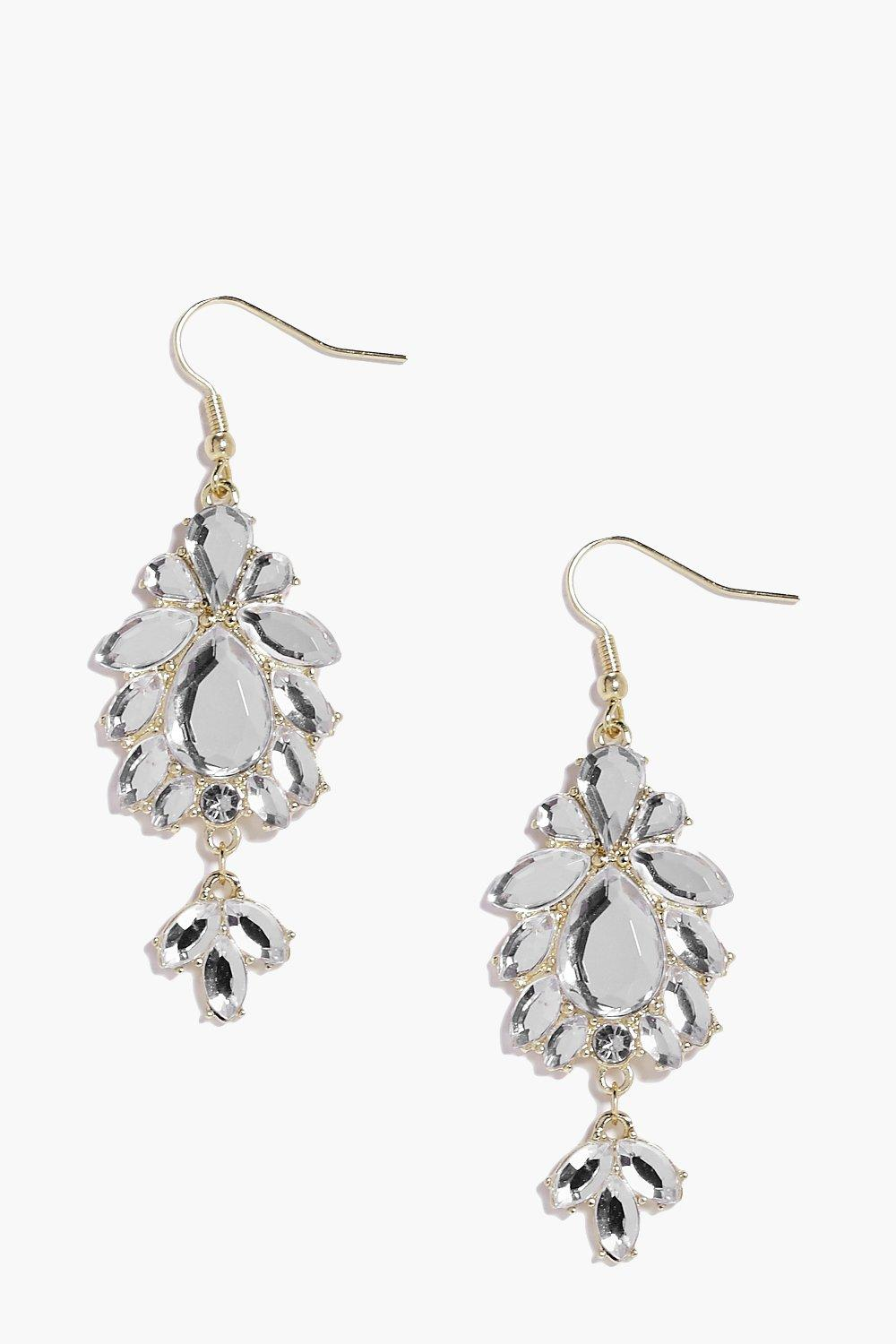 Alice Diamante Floral Drop Earrings